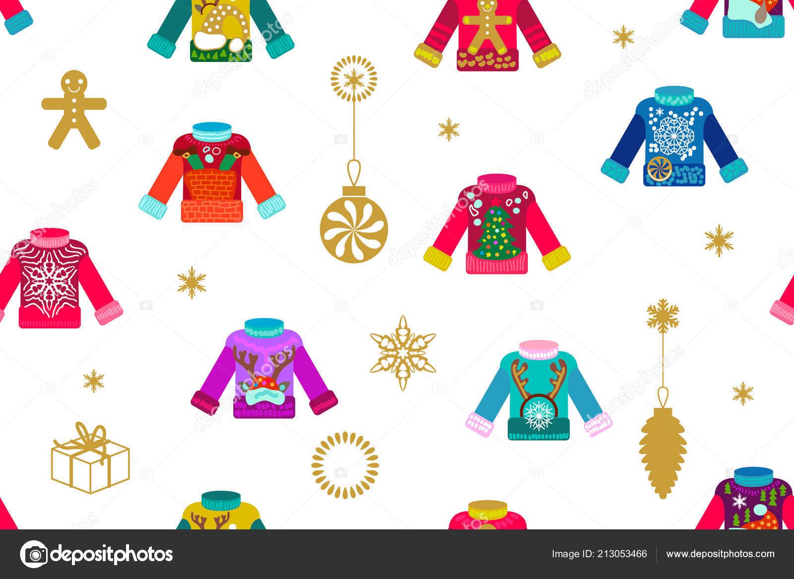 Ugly Christmas sweaters. — Stock Vector © SvetlanaKononova #213053466
