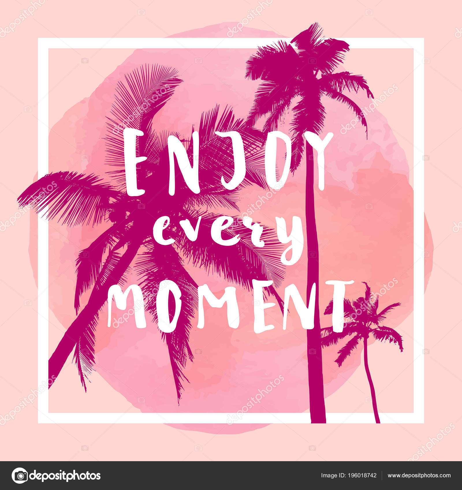 Enjoy Every Moment Handwritten Inspirational Quote Greeting Card