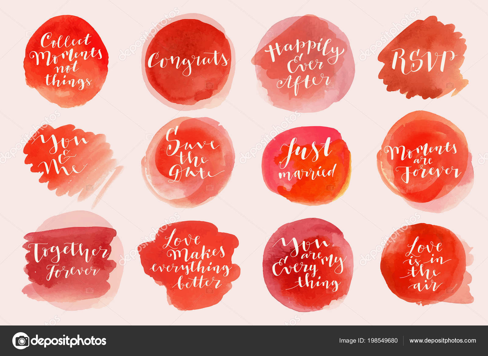 Watercolor love marriage lettering phrases quotes greetings stock watercolor love marriage lettering phrases quotes greetings stock vector m4hsunfo
