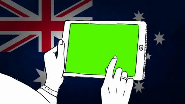 Australia hand drawn tourism