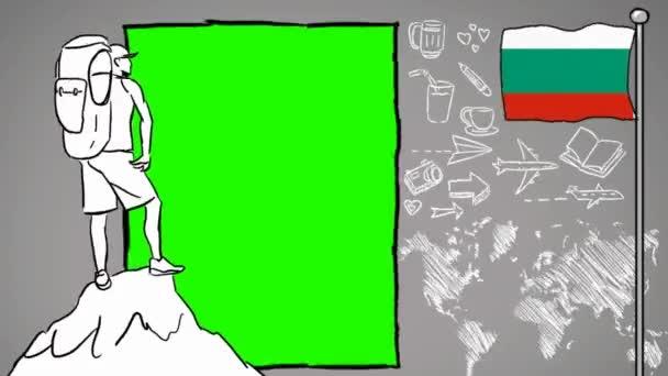 Bulgaria hand drawn tourism
