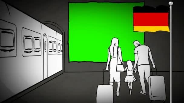 Deutschland handgezeichneter Tourismus