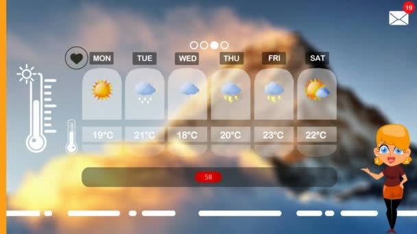 weather forecast in vector animation