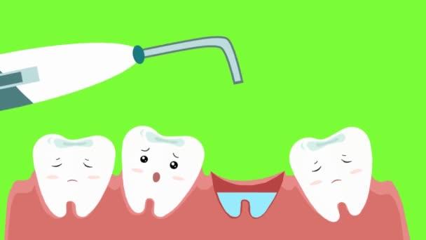 Zahnpflege - Vektoranimation