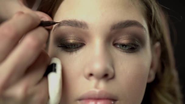 the makeup artist. professional makeup