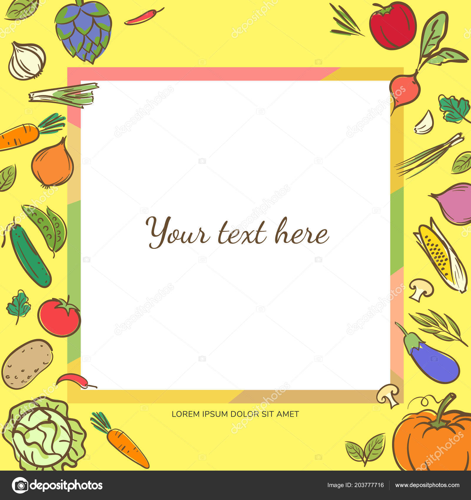 fruits vegetables cute banner background template copy space
