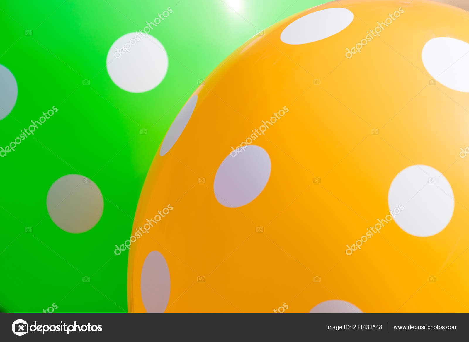 Background Green Orange Balloons White Circles Them Optimistic