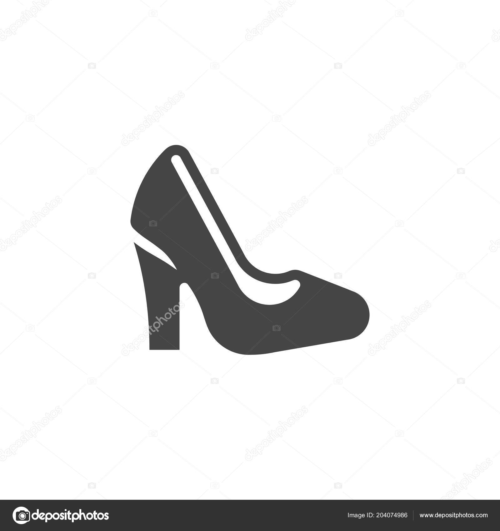 8b1bbcdc2 Elegance fashion item in black flat style. Vector illustration isolated on white  background — Vector by Fish-