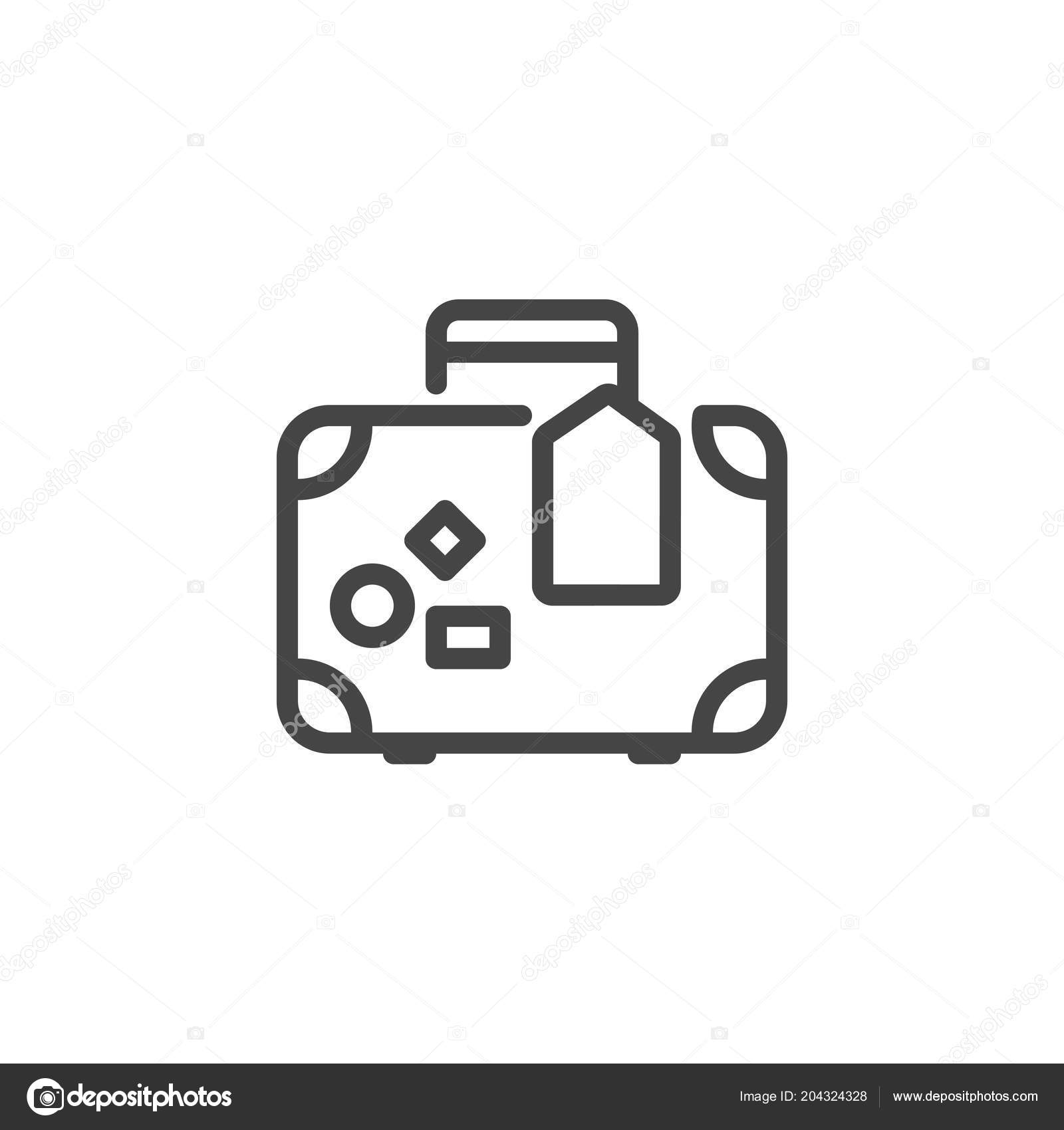 Images suitcase outline