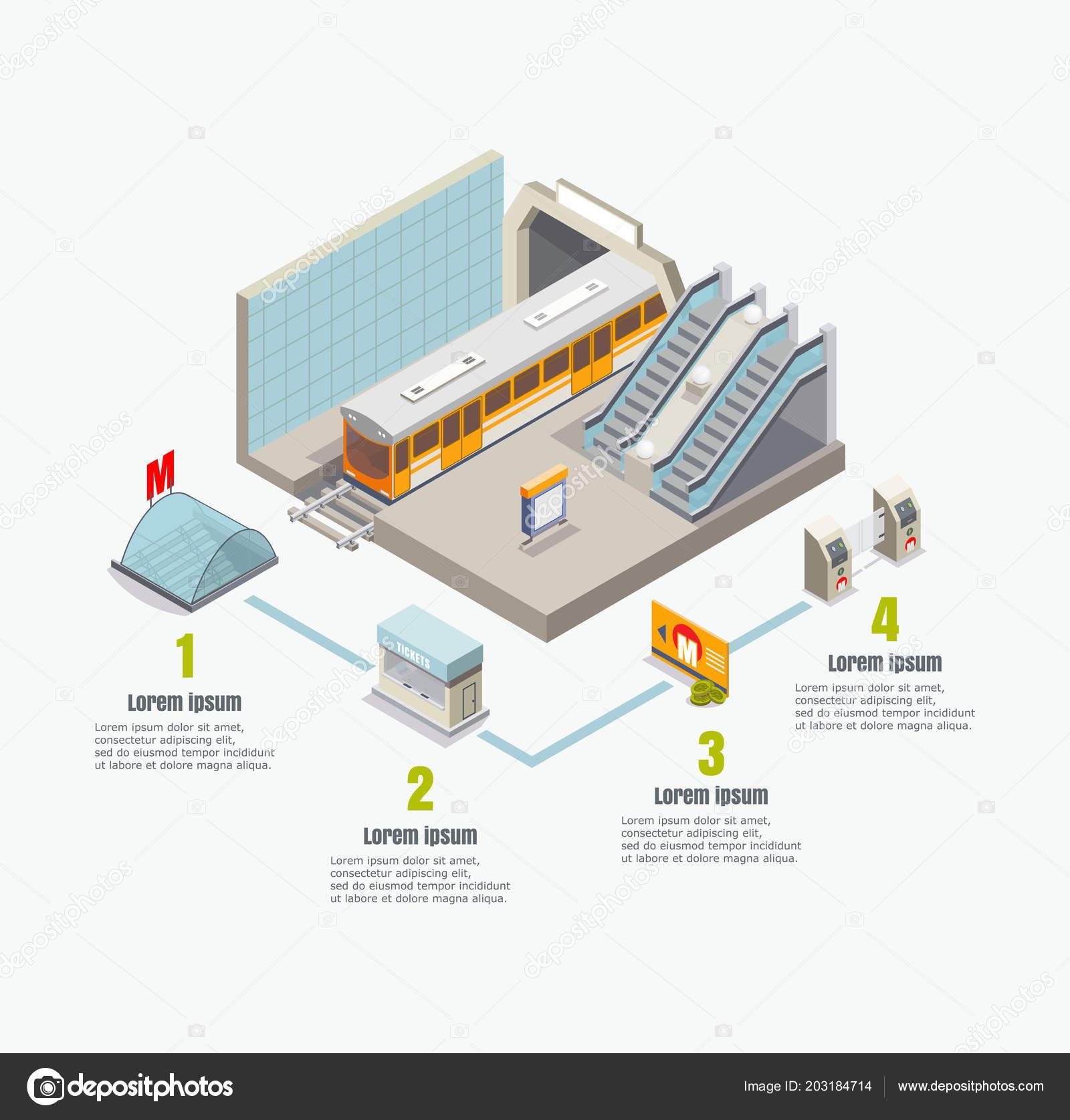 vector isometric metro subway infographics ⬇ vector image by © siberianart  | vector stock 203184714  depositphotos