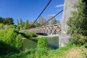 Fotografie alte Flussbrücke in Neuseeland