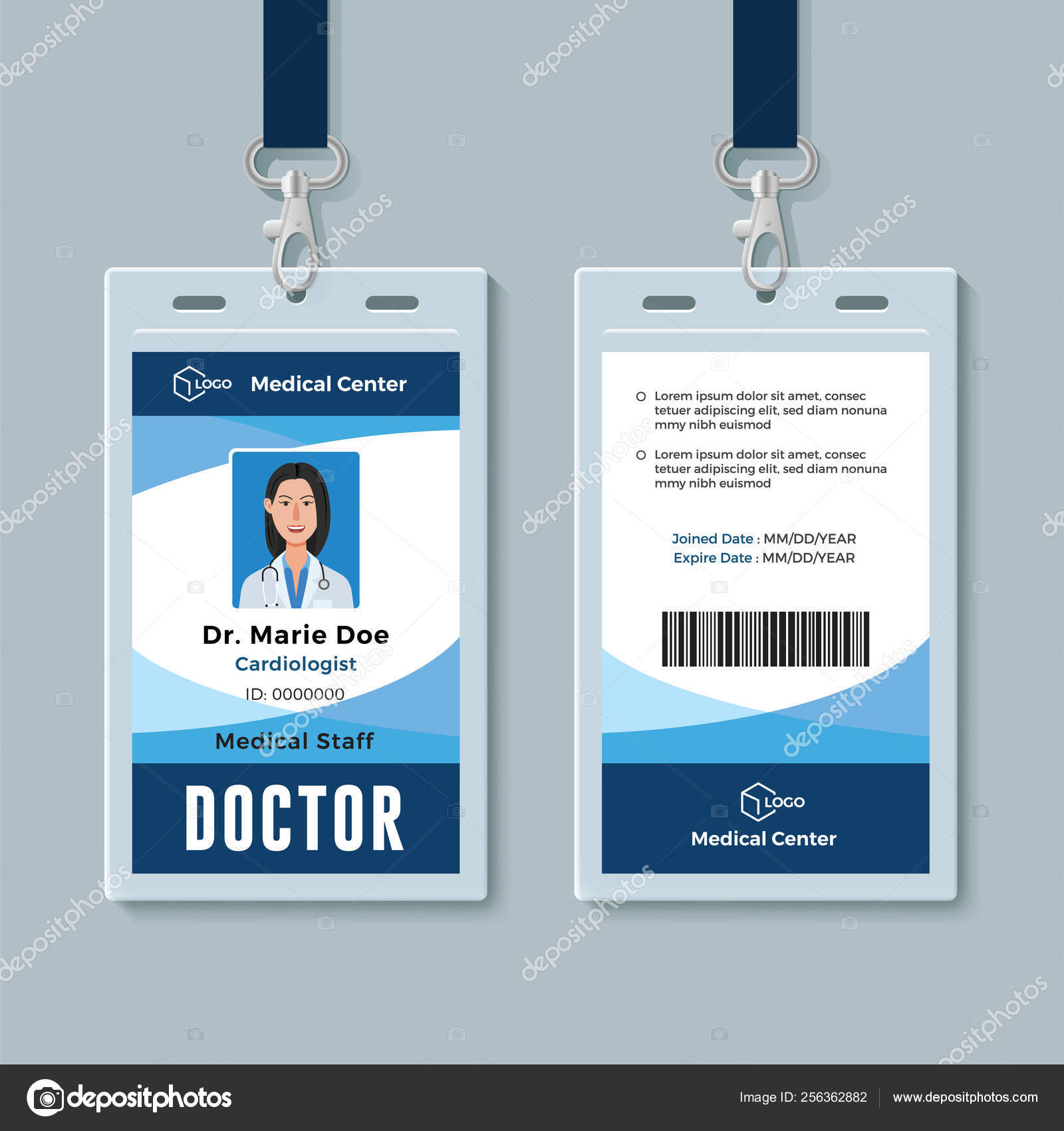 Medical Id Cards Template Doctor Id Badge Medical