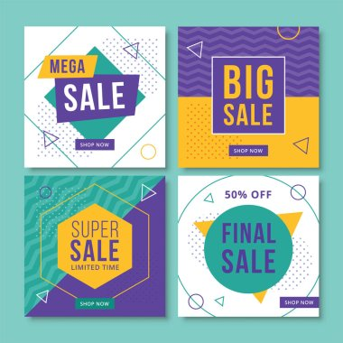 Abstract sale banners for social media. Vol.9
