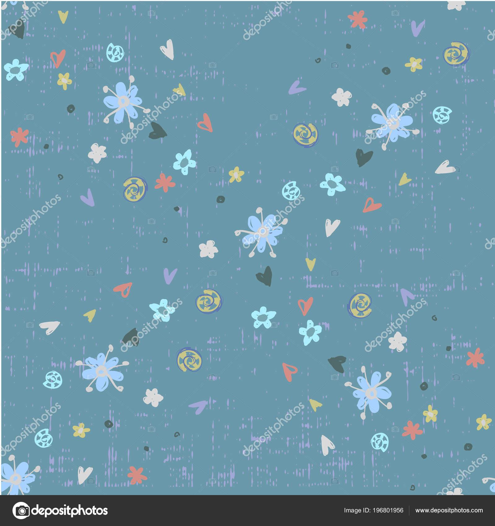 f3f7a497ac9 Χαριτωμένο αφηρημένη φαντασία χωρίς ραφή με μικρά πολύχρωμα άνθη σε ...