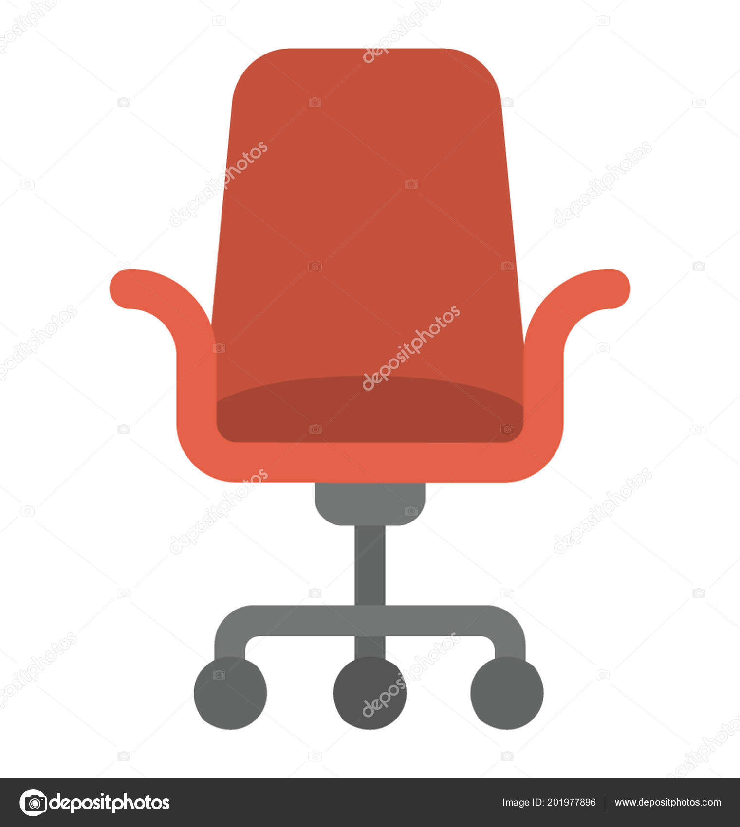 A mesh revolving chair for office use swivel chair u2014 Vector by vectorsmarket  sc 1 st  Depositphotos & Mesh Revolving Chair Office Use Swivel Chair u2014 Stock Vector ...