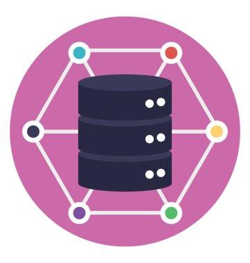 Flat design of data warehouse diagram