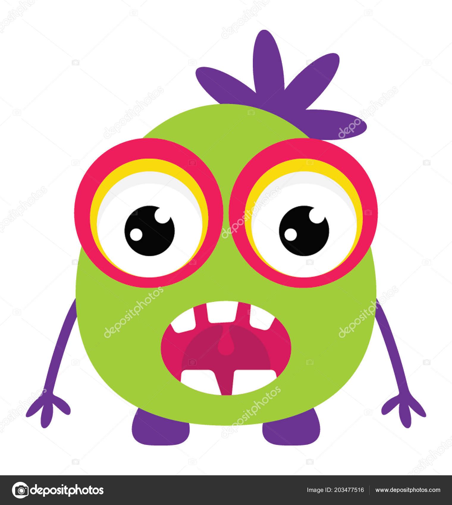 Dibujos Animados Ojos Grandes Monster Con Asustar