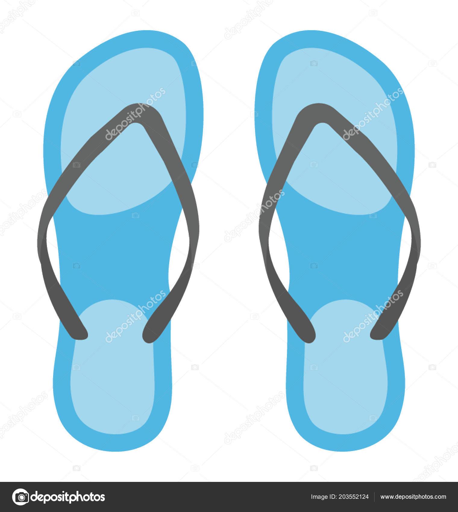 b244b90c82b0 Funky Flip Flop Footwear Beach Pool — Stock Vector © vectorsmarket ...
