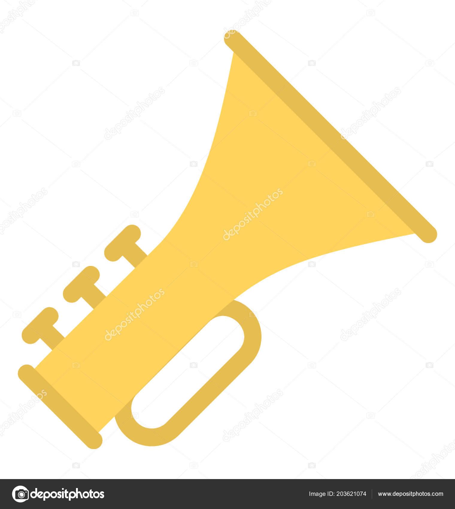 フランスのトランペット奏者 楽器吹奏楽団 ストックベクター