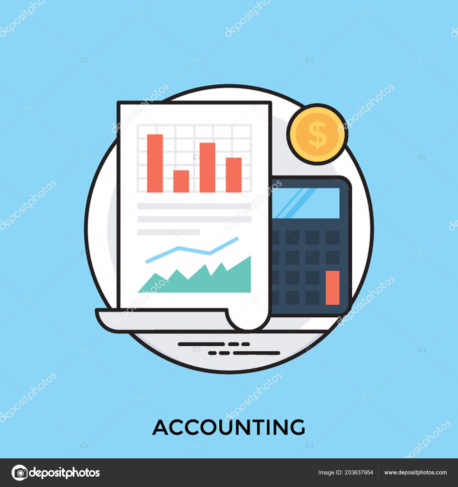 Chart consisting bar graphs calculator aside representing accounting a chart consisting bar graphs with calculator aside representing accounting process vetor de vectorsmarket ccuart Image collections
