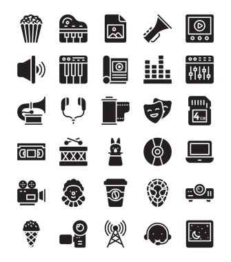 Media and Entertainment Icons Set
