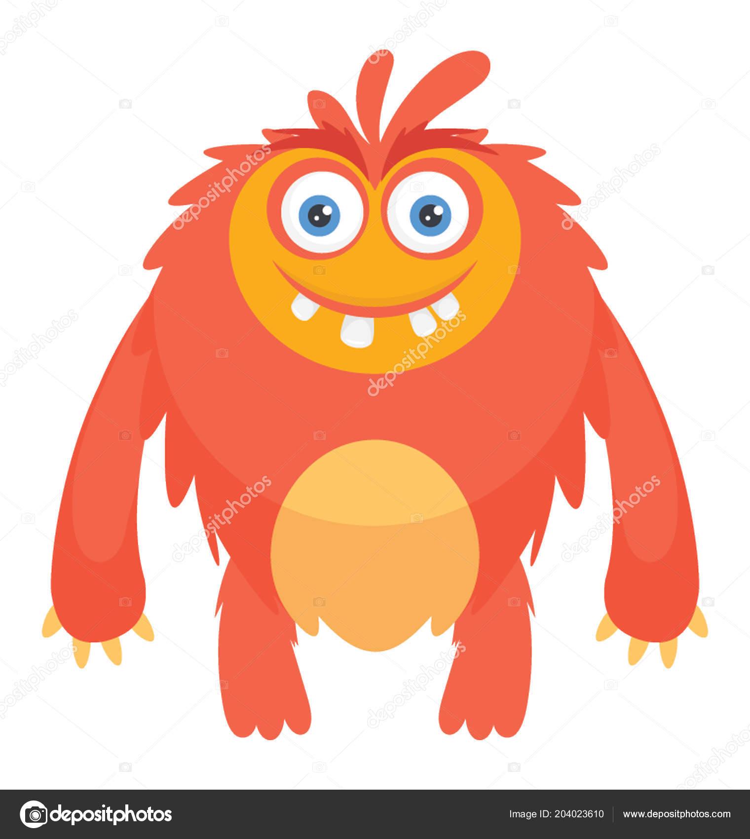 Eine Pelzige Monster Mit Augen Und Zähne Darstellung Von Moshi
