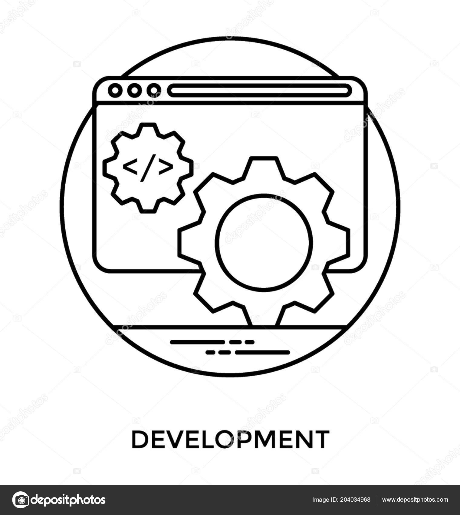 Web Page Coding Symbols Gear World Globe Symbol Another Cog