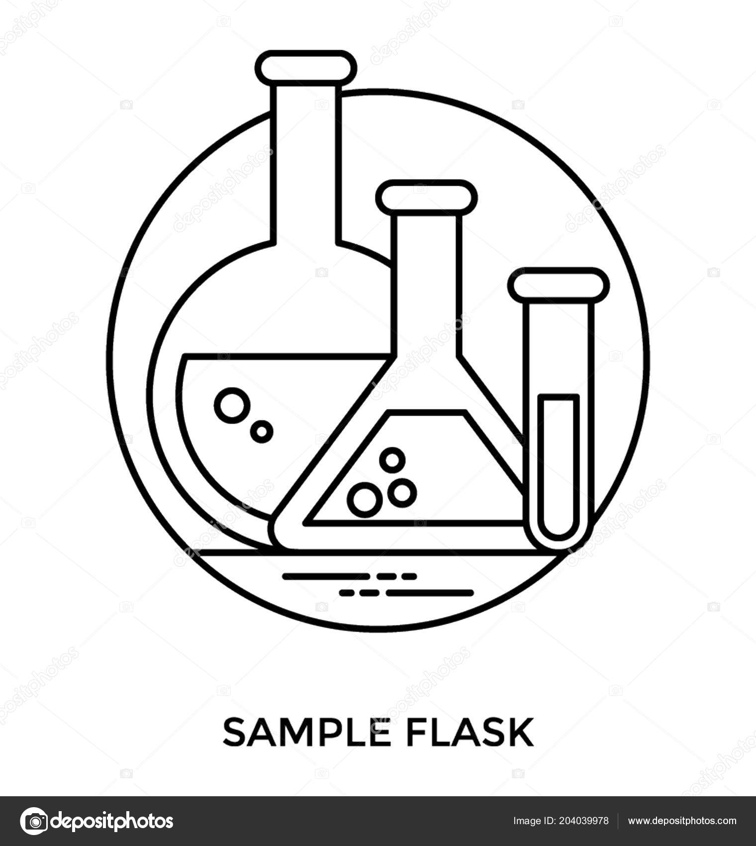 conical volumetric flask test tube essential components chemistry