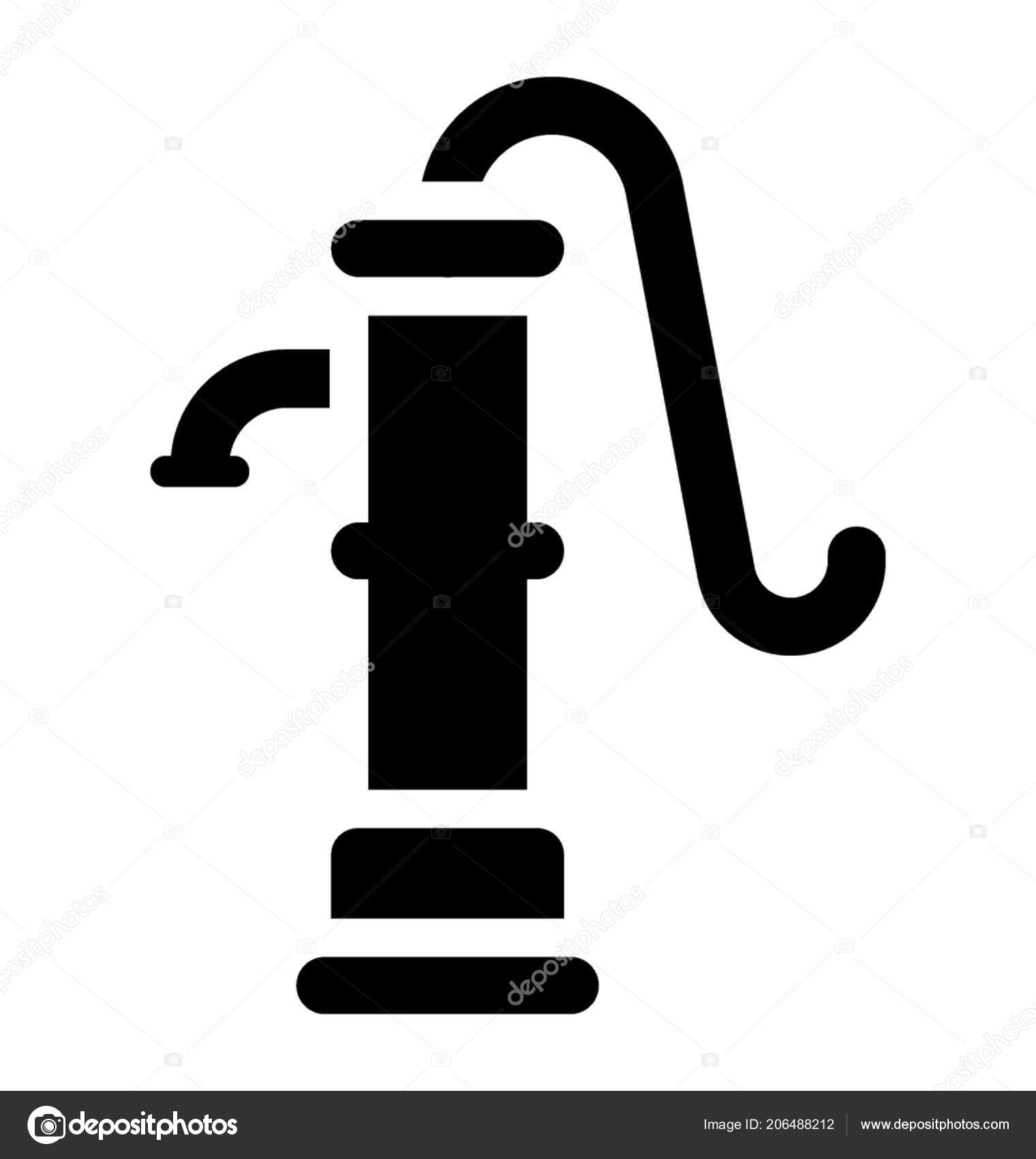 Old Fashioned Manual Hand Pump Water — Stock Vector © vectorsmarket