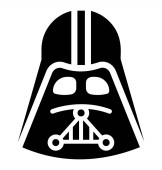 Icon of a mask used in star wars depicting vader mask