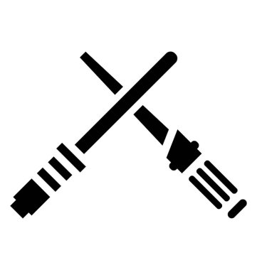 Icon of pair of laser sword depicting lightsaber