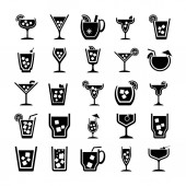 Fotografie Packung Cocktails Glyphen-Vektorsymbole