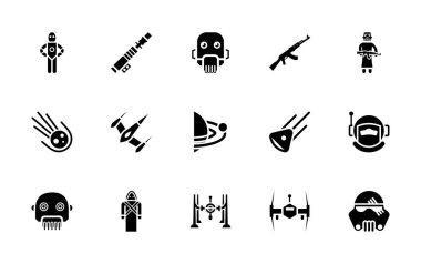 Star wars glyph vector pack