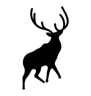 Stag silhouette vector icon