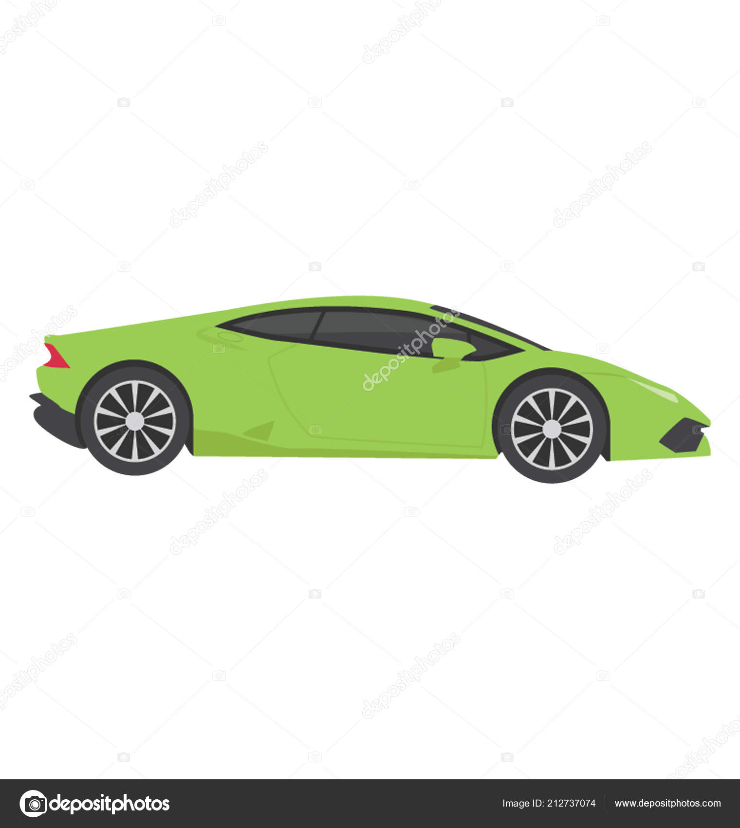 Sports Car High Speed Known Lamborghini Stock Vector