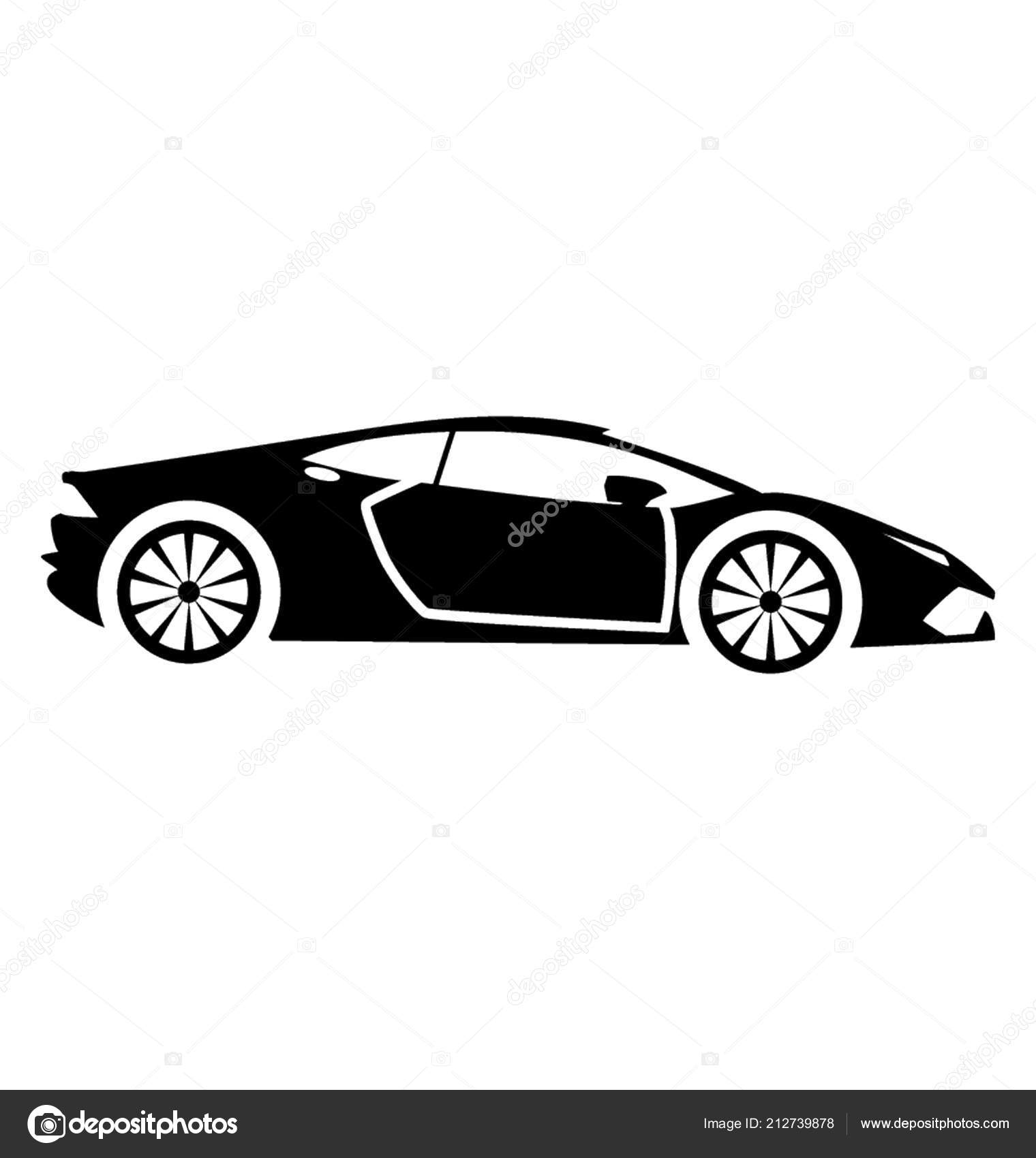 Sports Car High Speed Known Lamborghini Stock Vector