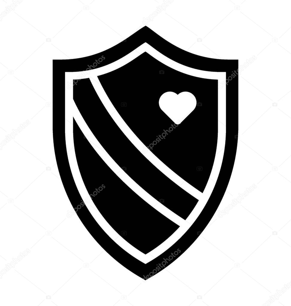 A shield presenting security concept, doodle vector icon