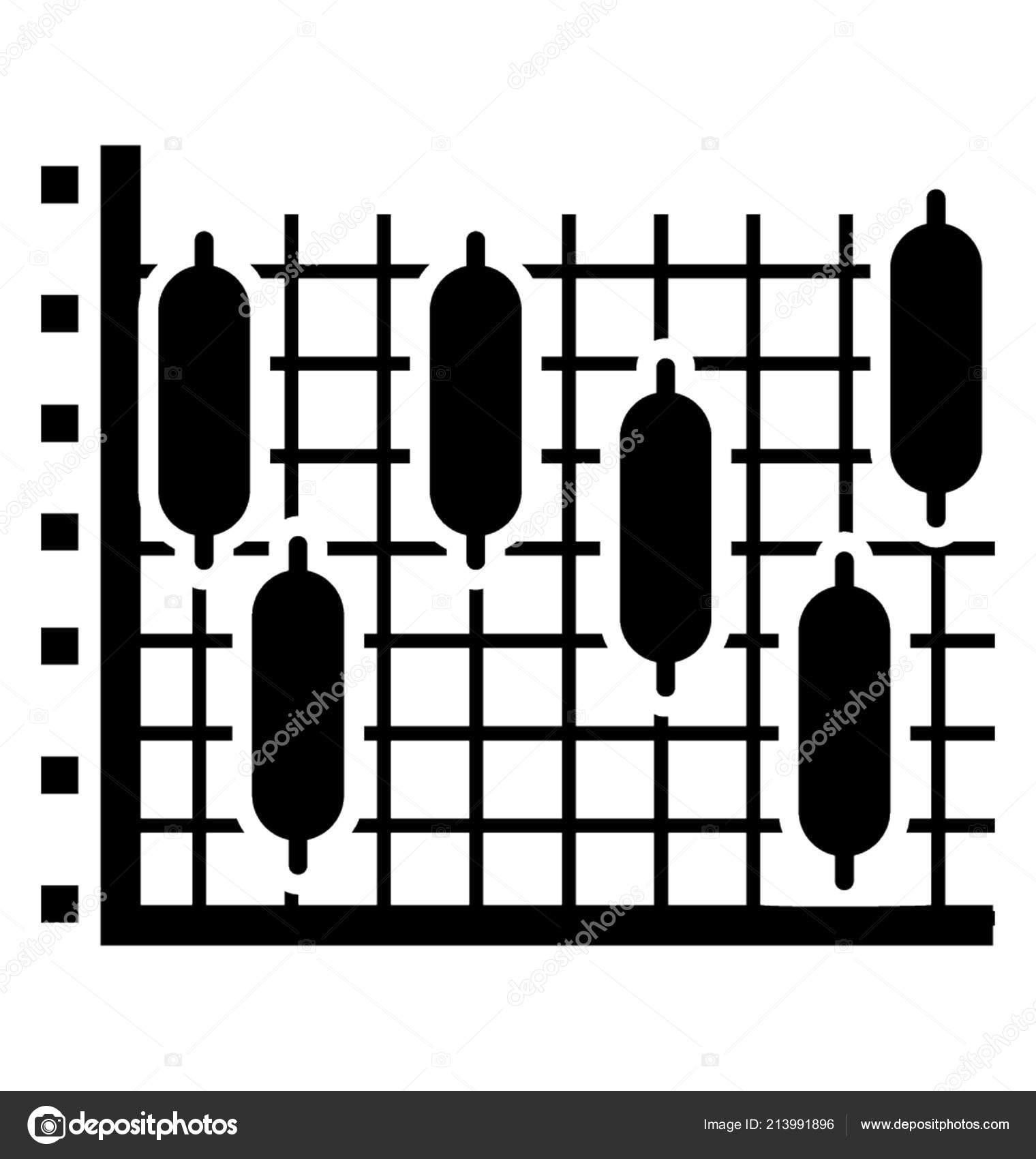financial chart graph paper bar structure denoting candlestick chart