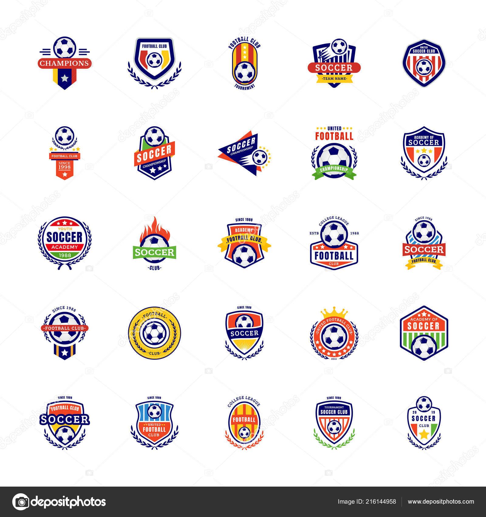 Fussball Abzeichen Logo Icons Stockvektor C Vectorsmarket