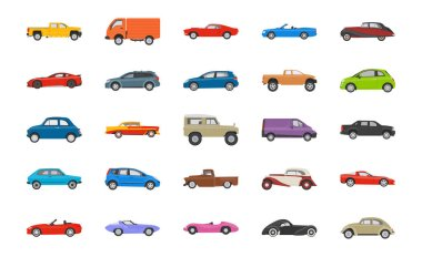Transport Cars Icons Set
