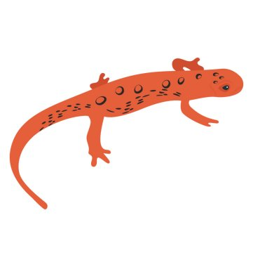 A flat icon design of a agamidae lizard