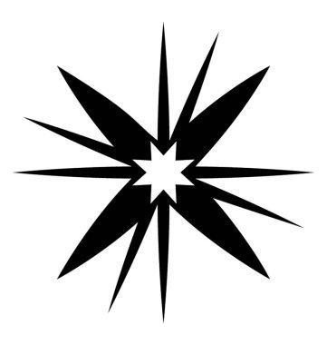 A sparkling star glyph icon vector