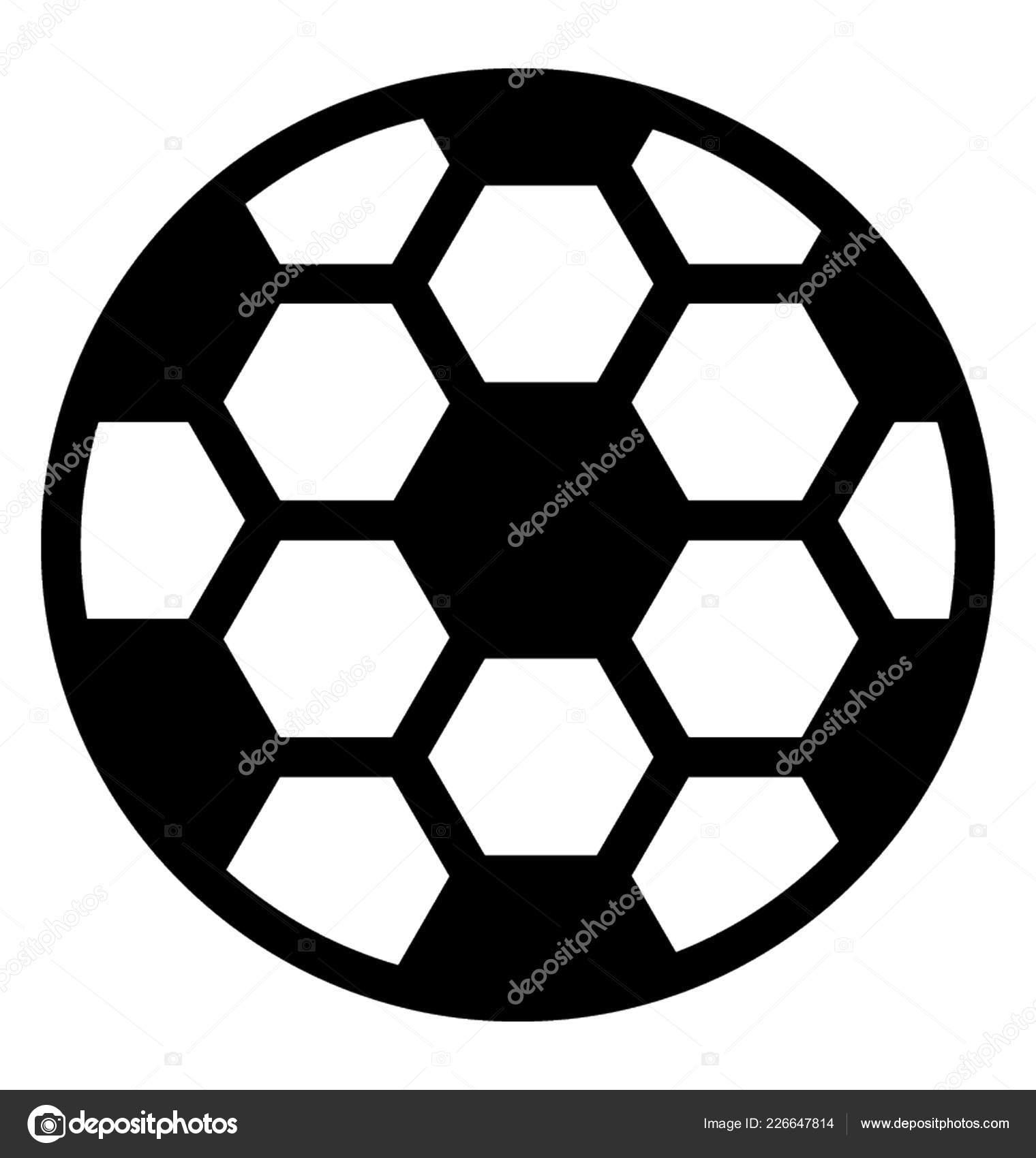 Fussball Schwarz Weiss Schach Solide Fussball Ikone
