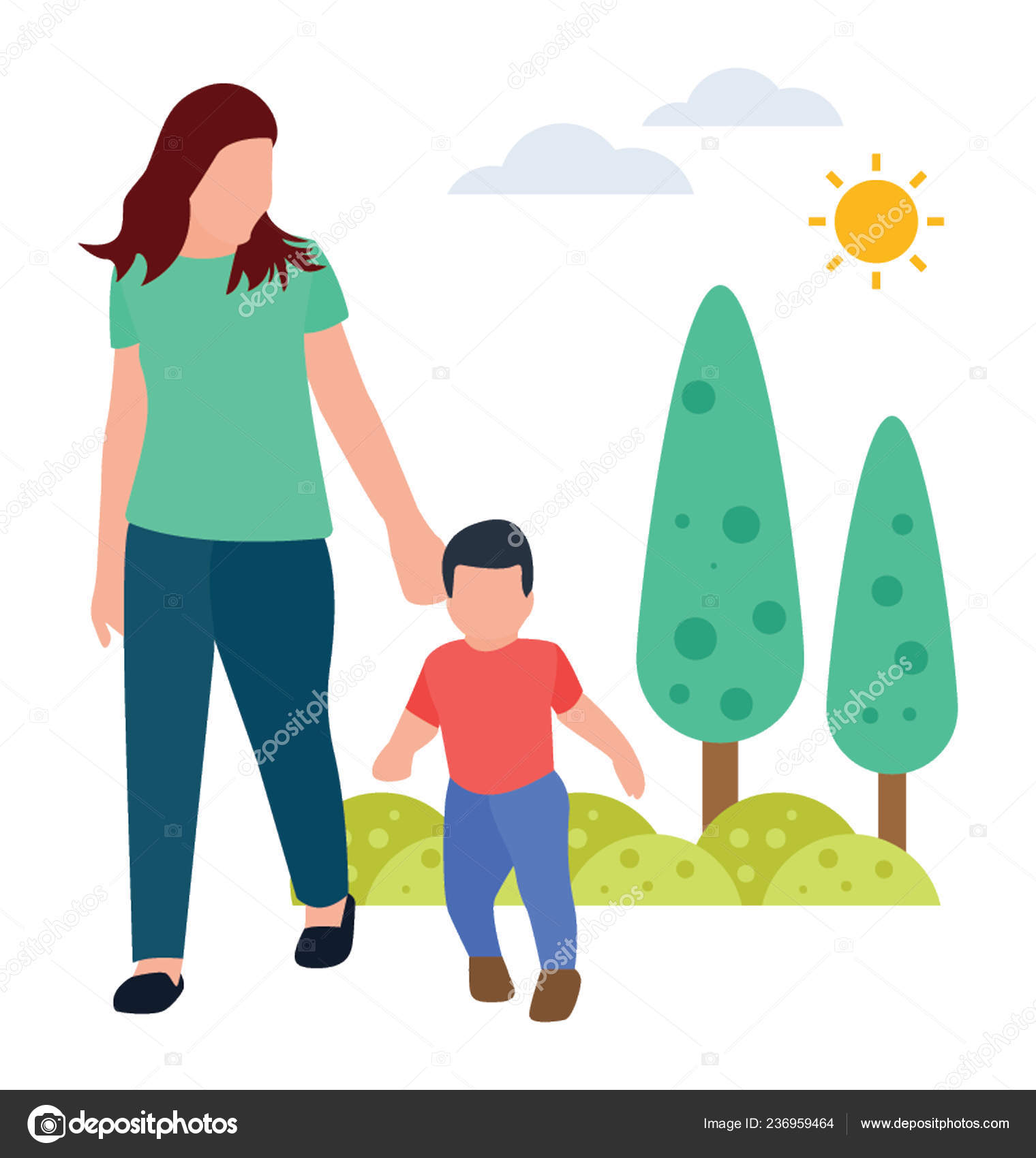 flat vector icon morning walk stock vector c vectorsmarket 236959464 https depositphotos com 236959464 stock illustration flat vector icon morning walk html