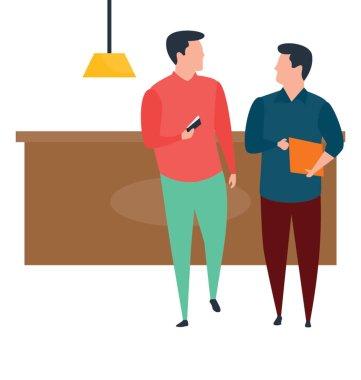 Flat business meeting illustration vector