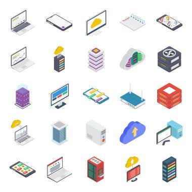 Data Server Isometric Icons Pack icon