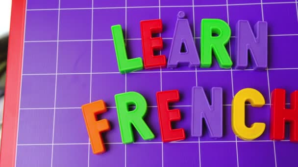 learn french language alphabet on magnets letters