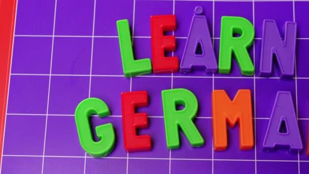 Ismerje meg a német nyelvi ábécé mágnesek levelek