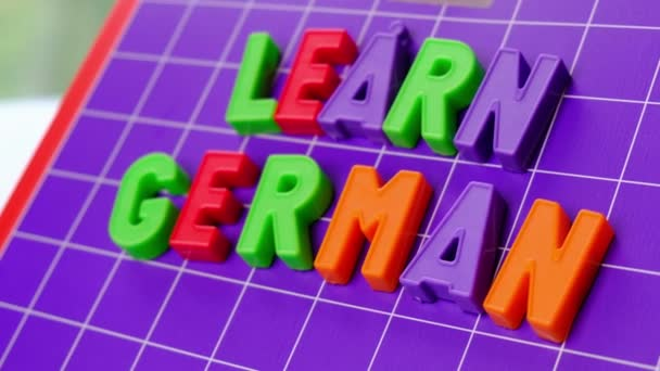 learn german language alphabet on magnets letters