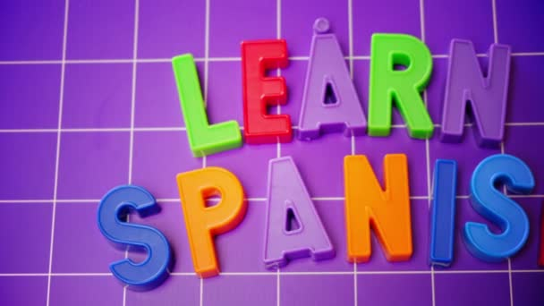 learn spanish language alphabet on magnets letters